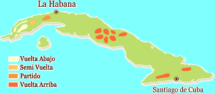 Cuban Cigar Regions